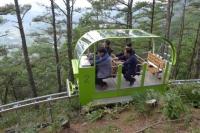 六人座电动爬坡轨道观光车